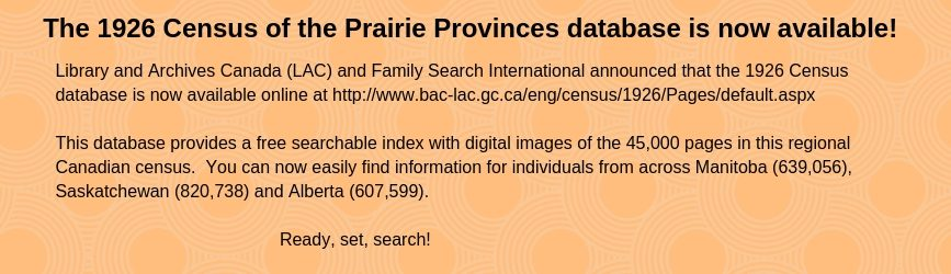 1926 Census of the Prairie Provinces