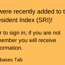 Saskatchewan Residents Index (SRI)