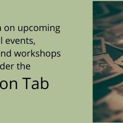 Upcoming Events, Presentations & Workshops