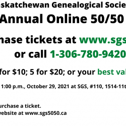 2nd Annual Online 50/50 Raffle